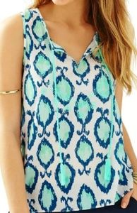 Lilly Pulitzer Lauren Sleeveles Top Hook You In